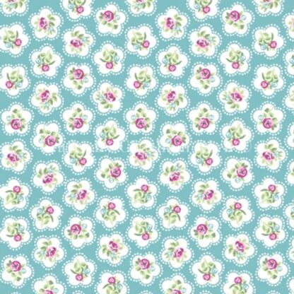 Lifestyle Dainty Flowers Teal